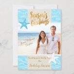 "Tropical Beach Photo Christmas Card<br><div class=""desc"">Tropical Beach Photo Christmas Card</div>"