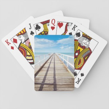 Tropical Beach Pier Classic Playing Cards