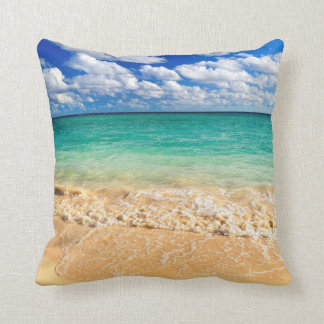 Tropical beach pillow