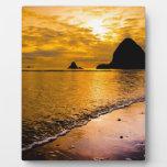 tropical beach plaque
