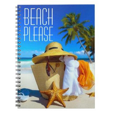 Beach Themed Tropical Beach Please Scene  Notebook