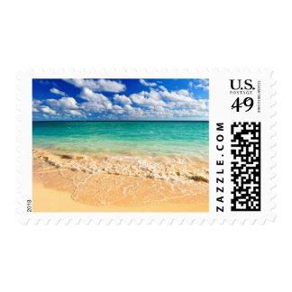 Tropical beach postage
