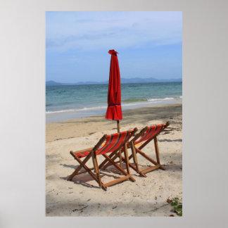 Tropical beach print