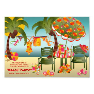 Tropical Beach Prom Invitations
