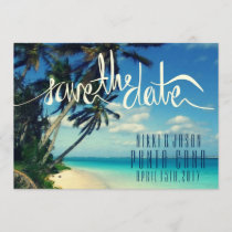 Tropical Beach Punta Cana, Dominican Save the Date