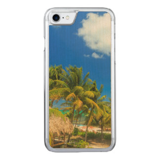 Tropical beach resort, Belize Carved iPhone 8/7 Case