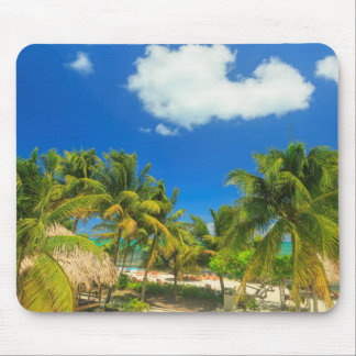 Tropical beach resort, Belize Mouse Pad