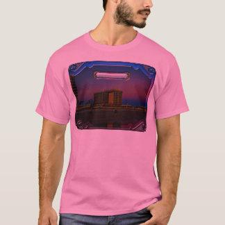 Tropical Beach Resorts at Dawn Digital Framed Art T-Shirt