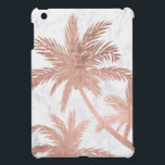 "Tropical beach rose gold palm trees white marble case for the iPad mini<br><div class=""desc"">Tropical simple rose gold palm trees white marble by Girly Trend</div>"