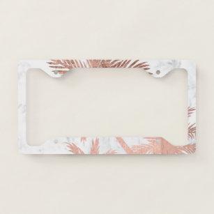 I Love Miami Beach Ocean Palm Tree Metal License Plate Frame Tag Holder