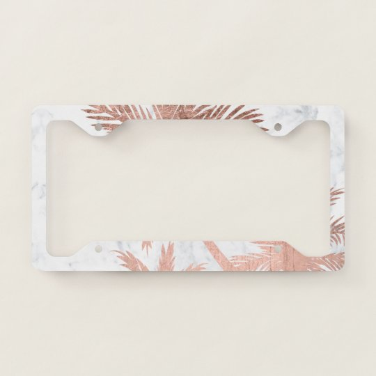 Palm Tree License Plate Frame Gold - Best Plate 2018