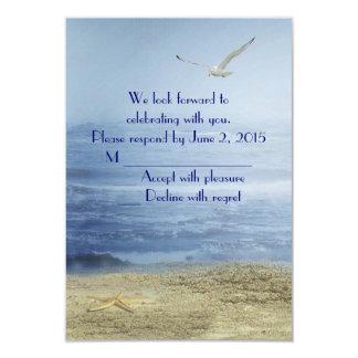 Tropical Beach RSVP Card