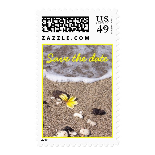 Tropical Beach Save the Date Postage