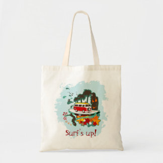 Tropical Beach Scene Canvas Bag