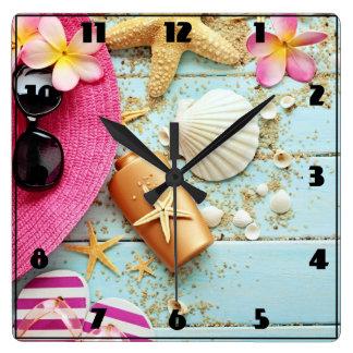 Tropical Beach Scene - Custom Clock