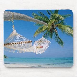 Tropical Beach Scene Mouse Pad