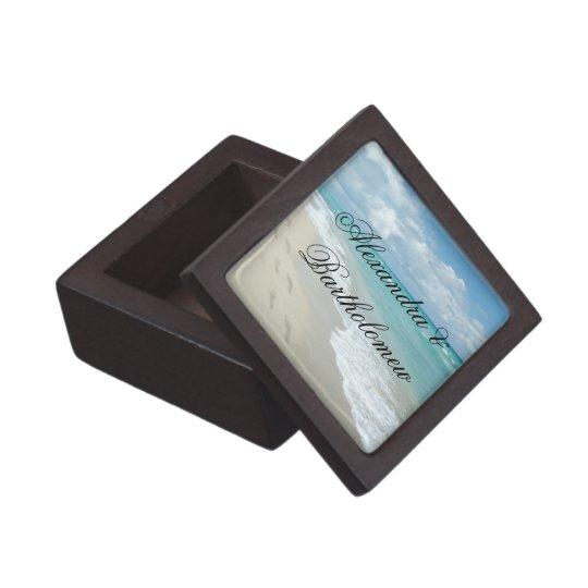 Tropical Beach Scene Personalized Keepsake Jewelry Box