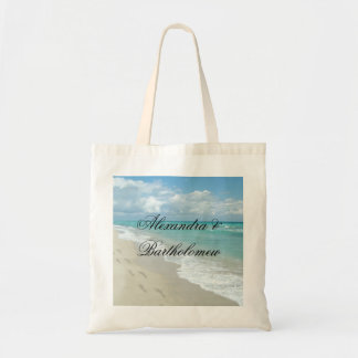 Tropical Beach Scene Personalized Keepsake Tote Bag