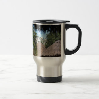 Tropical Beach Scene Travel Mug