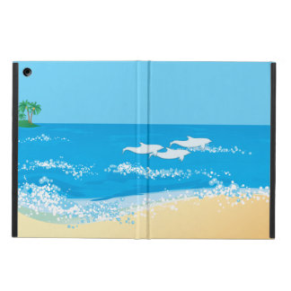 Tropical Beach Scenic Dolphin Design iPad Air Cover