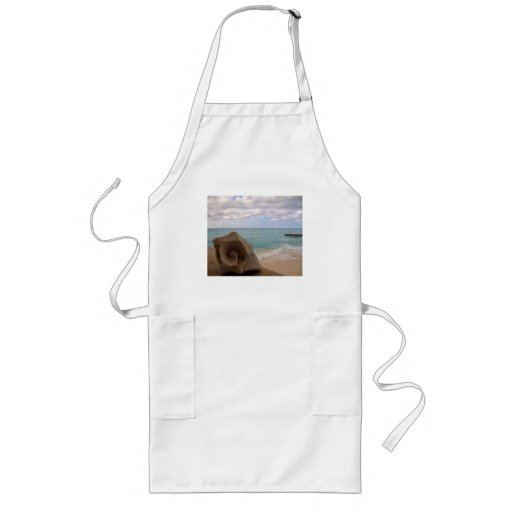 Tropical Beach Seashell Aprons