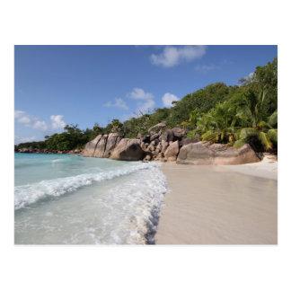 Tropical Beach, Seychelles, Indian Ocean Post Card