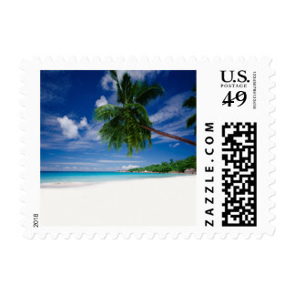 Tropical Beach | Seychelles Postage Stamp