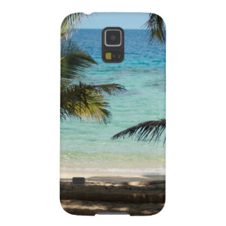 Tropical beach shaded by palms cases for galaxy s5