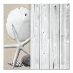 "Tropical Beach Shells Blank Table Number Cards 5.25"" Square Invitation Card"