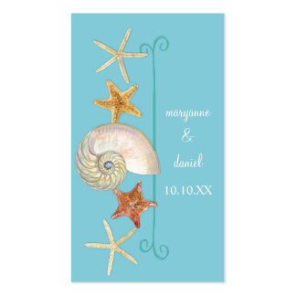 Tropical Beach Shells Starfish Nautilus Summer Business Card