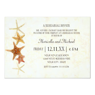 Tropical Beach Shells Starfish Nautilus Summer 5x7 Paper Invitation Card