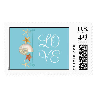 Tropical Beach Shells Starfish Nautilus Summer Postage Stamps