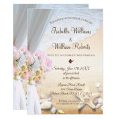 Tropical Beach Starfish Wedding Invitation