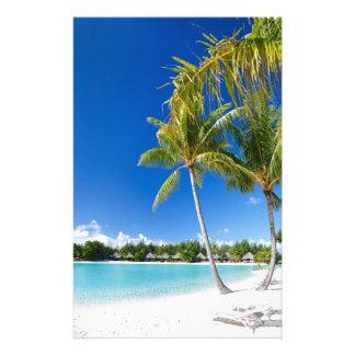 Tropical beach stationery