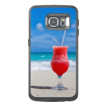 Beach Themed Tropical Beach Summer Red Strawberry Margarita OtterBox Samsung Galaxy S6 Edge Case