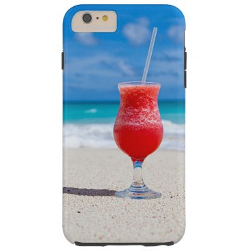 Beach Themed Tropical Beach Summer Red Strawberry Margarita Tough iPhone 6 Plus Case