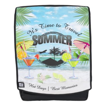 Beach Themed Tropical Beach, Summer Vacation | Personalized Backpack