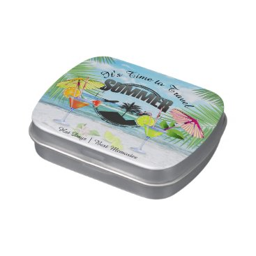 Beach Themed Tropical Beach, Summer Vacation | Personalized Candy Tins