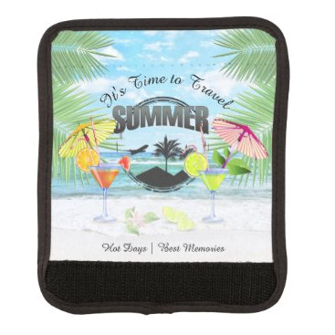 Beach Themed Tropical Beach, Summer Vacation | Personalized Handle Wrap