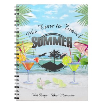 Beach Themed Tropical Beach, Summer Vacation | Personalized Notebook