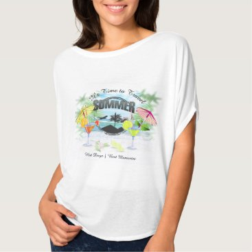Beach Themed Tropical Beach, Summer Vacation | Personalized T-Shirt
