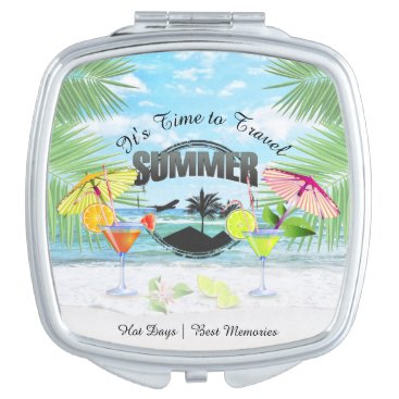 Beach Themed Tropical Beach, Summer Vacation | Personalized Vanity Mirror
