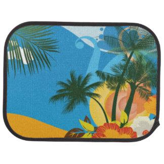Tropical Beach Sunrise Car Mat