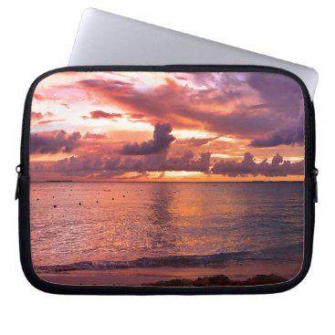 Tropical Beach Sunset Computer Sleeve