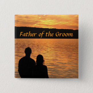 Tropical Beach Sunset Father of the Groom Pin
