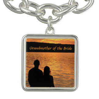 Tropical Beach Sunset Grandmother of the Bride Charm Bracelet