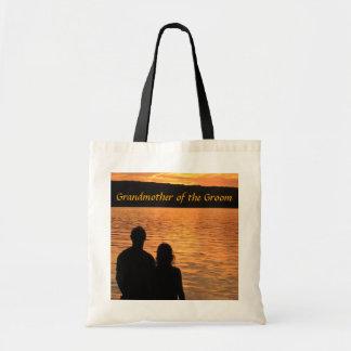 Tropical Beach Sunset Grandmother of the Groom Canvas Bag