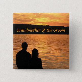 Tropical Beach Sunset Grandmother of the Groom Pin