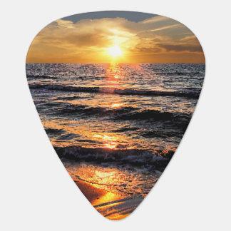 Tropical Beach Sunset Guitar Picks Guitar Pick