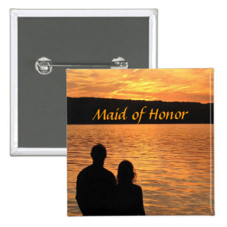 Tropical Beach Sunset Maid of Honor Pin